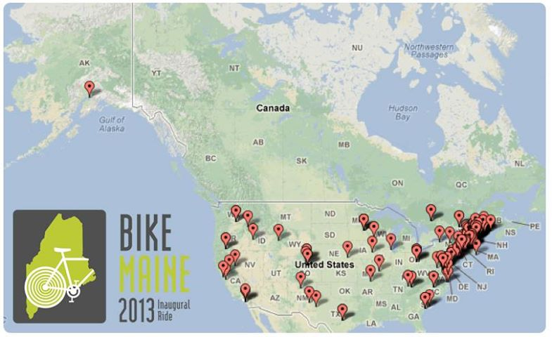 BikeMap Rider Map